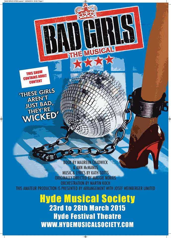Hyde Musical Society - Bad Girls poster