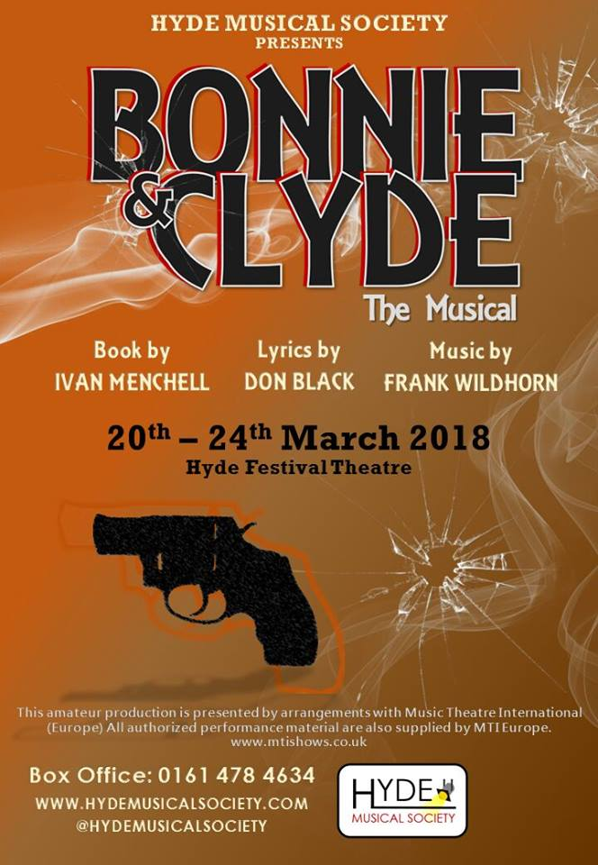 Hyde Musical Society - Bonnie & Clyde poster