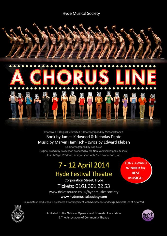Hyde Musical Society - A Chorus Line poster